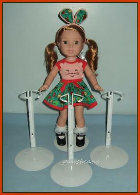 "3 KAISER Doll Stands fit 14.5"" American Girl WELLIE WISHERS"