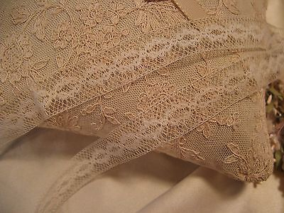 Antique French Cotton Insertion Lace Doll Craft (5)