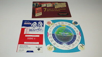 * Vintage Replogle How We Got To The Moon World Time Finder Perry Graf Charts *