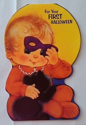 Vintage 80's Unused American Greetings Baby's First Halloween Card