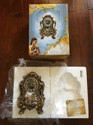 Beauty and the Beast Limited Edition COGSWORTH CLOCK ~Disney Store~ New In Box