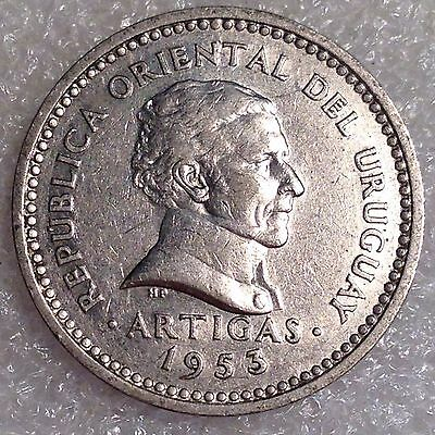Uruguay 5 Centesimos 1953 Copper-Nickel