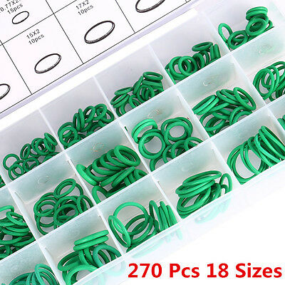 270Pcs 18 Sizes Kit Car Auto Air Conditioning A/C System HNBR O Rings Seals Tool