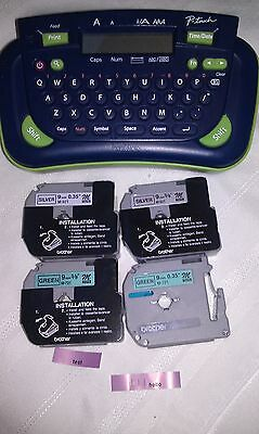 Brother P-Touch PT-80 Personal Label Printer w/ 4 1/2 Tape Cartridges