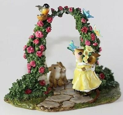 Wee Forest Folk Special Ltd Summer Butterfly Arch Red Flowers Sold Out
