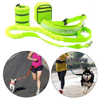 Nylon Elastic Pet Dog Leash Lead Strap Rope Waist Belt For Walking Running