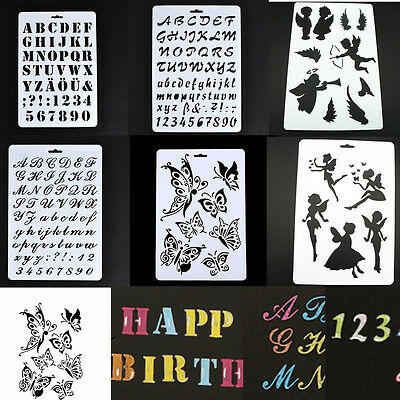 Layering Stencils Template Scrapbooking Painting Embossing Album Craft Tool DIY