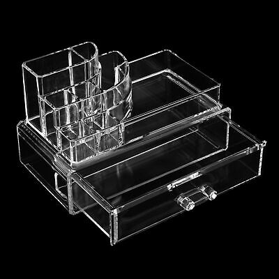 Acrylic Makeup Clear Organiser Cosmetic Case Holder Jewellery Storage Box Drawer