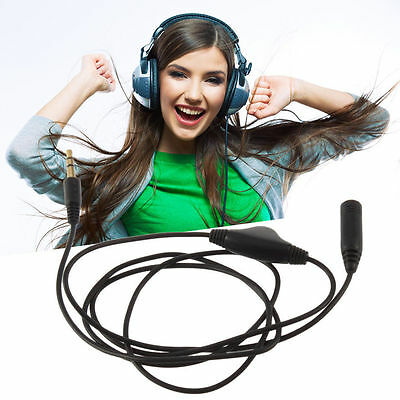 3.5mm 3M M/F Stereo Audio Headphone Aux Extension Cord Cable & Volume Control