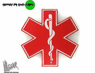 ill Gear STAR OF LIFE LARGE RED MEDIC MEDICAL PARAMEDIC HOOK & LOOP PATCH EMT