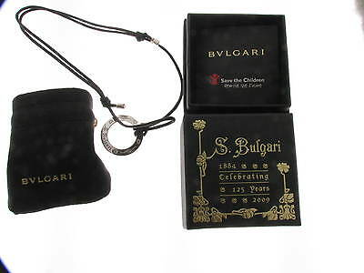 Bulgari Sterling Silver Save the Children Pendant Necklace ref. CL855372 new