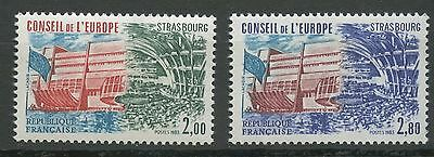 Stamp Timbre France Neuf Service N ° 77/78 ** Conseil De L'europe