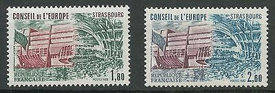 Stamp Timbre France Neuf Service N ° 73/74 ** Conseil De L'europe