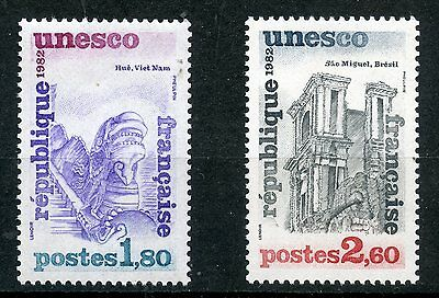 Stamp Timbre France Neuf Service N ° 71/72 ** Unesco / Architecture