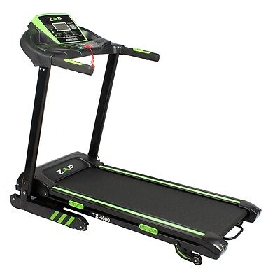 ZAAP Fitness TX-4000 Electric Treadmill Running Machine with iPad/Tablet Stand