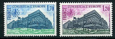 Stamp Timbre France Neuf Service N° 58/59 ** Conseil De L'europe