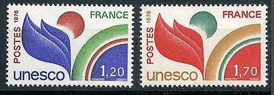 Stamp Timbre France Neuf Service N° 56/57 ** Unesco