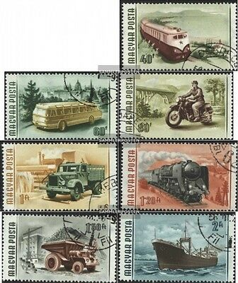 Hungary 1453-1459 (complete.issue.) fine used / cancelled 1955 Vehicles