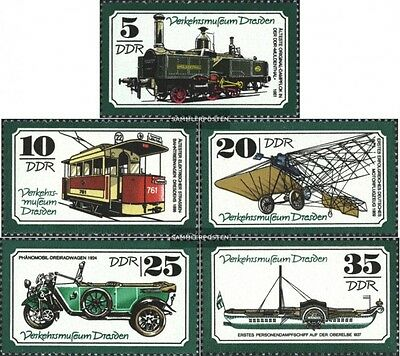 DDR 2254-2258 (complete.issue) unmounted mint / never hinged 1977 Transport Muse