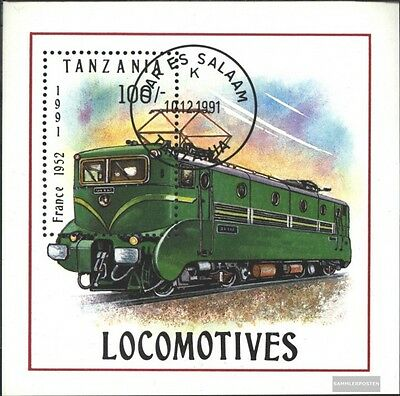 Tanzania block165 (complete.issue.) fine used / cancelled 1991 Locomotives and R