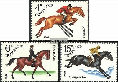 Soviet-Union 5148-5150 (complete.issue.) fine used / cancelled 1982 Horse