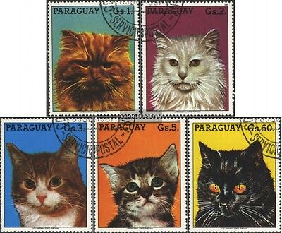 Paraguay 4079-4083 (complete.issue.) fine used / cancelled 1987 Cats
