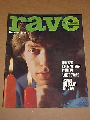 Rave Magazine December 1965 Mick Jagger cover (Rolling Stones/Yardbirds/Who)