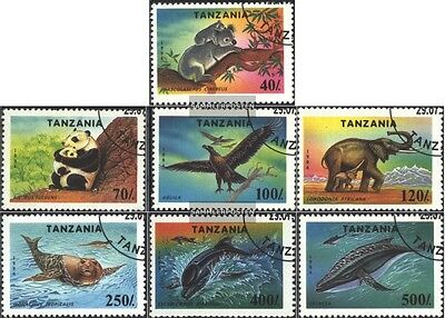 Tanzania 1775-1781 (complete.issue.) fine used / cancelled 1994 Protected Flora