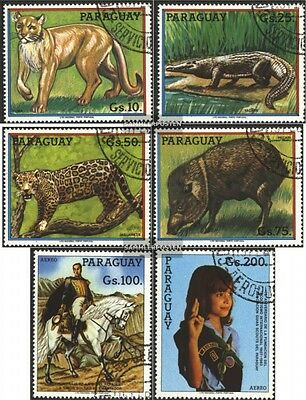 Paraguay 3720-3725 (complete.issue.) fine used / cancelled 1984 Animals
