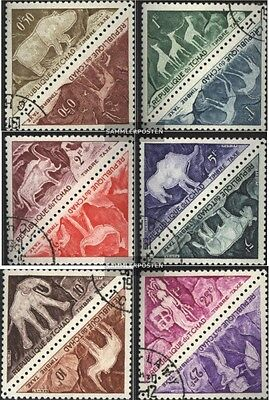 Chad P23-P34 Couples (complete issue) fine used / cancelled 1962 prehistoric. Ro