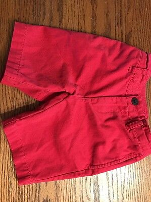 Tea Collection Toddler Boys Size 3 Red Shorts