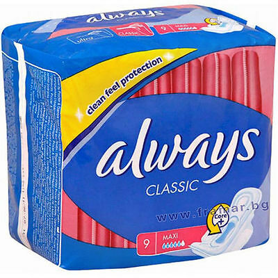 Always Classic Maxi 9 Sanitary Protection Freepost