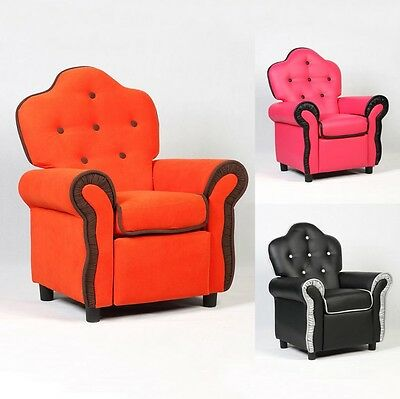 Children Toddler Pu Leather Armchair Recliner Couch Seat Sofa Chair