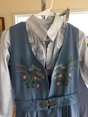 AUTHENTIC Small Gorgeous vintage NORWEGIAN OSLO BUNAD FROM NORWAY with JACKET