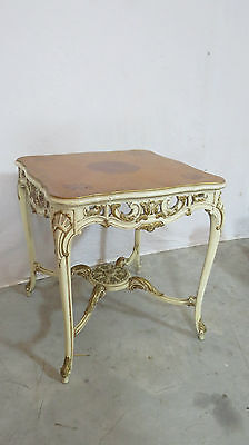 French Carved Side Center Table Nightstand