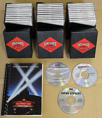 HOLLYWOOD EDGE sound effects library -The PREMIERE EDITION 30 Disks - Sets 1 & 2