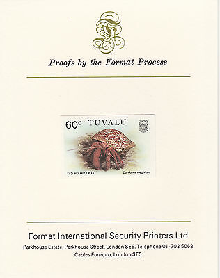 Tuvalu 3039 - 1986 CRABS  60c on Format International PROOF  CARD