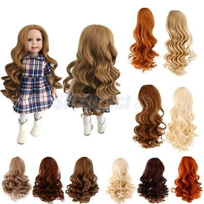Dolls Simulation Scalp Wig Wavy Curly Hair for 18 inch American Girl Dolls