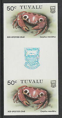 Tuvalu 3092 - 1986 CRABS  50c  IMPERF GUTTER PAIR unmounted