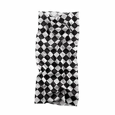 Cafe Racer Motorcycle Neck Tube Chequered Flag Design Holy Freedom