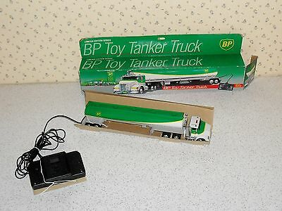 """BP Toy Tanker Truck with wired remote control, 14"""" long, 2.75"""" tall"""