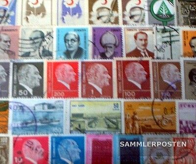 Turkey 100 different stamps