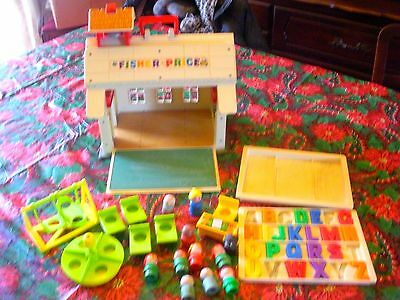 "Fisher Price 1971 ""SCHOOL HOUSE"" W/Accessories -"