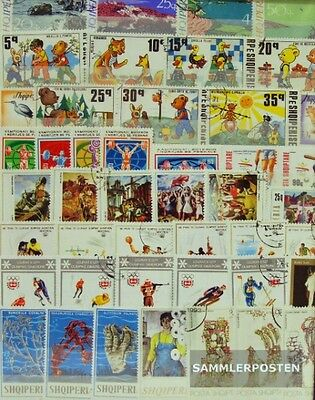 Albania 100 different special stamps  in complete Expenditure