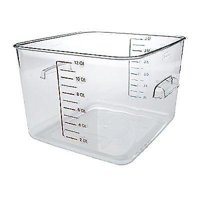 Rubbermaid Commercial Space Saving Food Storage Container, 12 Quart, FG631200