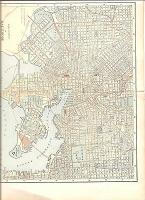 Early map of main portion of Baltimore, MD