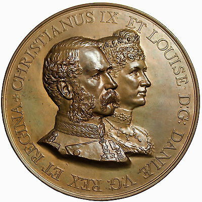 1893 Great Britain Christian IX Louise Of Denmark London Visit Medal By  Bowcher