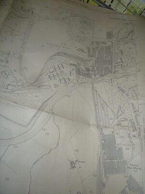 "Carron Ironworks Mungal Falkirk OS large scale map 1947 25""-1 mile 40x29"""
