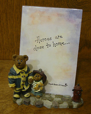Boyds Frames #27369 Patrick and His Hero 1st Ed, NIB From Retail Store FIREMAN