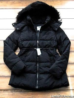 OLD NAVY MATERNITY ~ New! XS ~ Faux Fur Down PUFFER Winter Coat Jacket